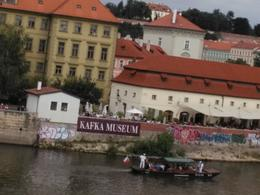 View of the Kafka museum from the Charles IV Bridge , rtinkov - September 2014