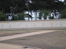 Wall of missing soldiers at the Omaha beach cemetery., John J - October 2007