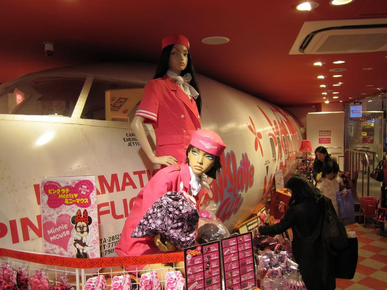 An airplane in a shop where everything is pink! - Tokyo