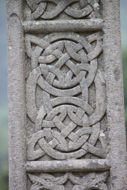 Intricate carvings on celtic cross , Timothy P - August 2013