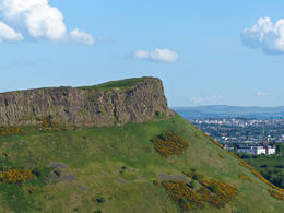 Looking at Holyrood Park from Carlton Hill , Amy - August 2013