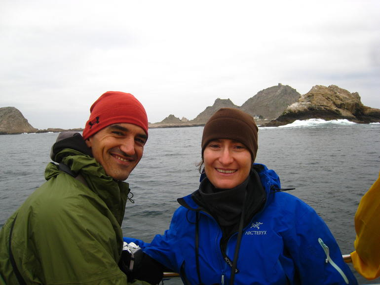 Hubby & I at the Farallon Islands - San Francisco