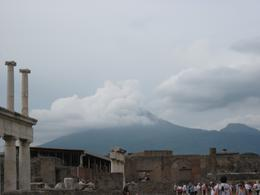 Pompeii with Mt. Vesuvius in background, Kimberly W - September 2010