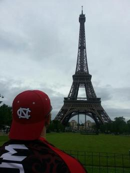 I (James) admiring the beautiful Eiffel Tower in Paris, France , James R - June 2013
