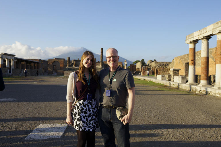 Perfect Backdrop for a Father-Daughter Photo - Rome