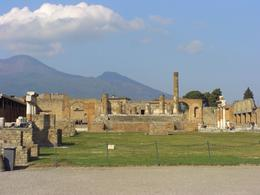 View of Pompeii and Mt. Vesuvius. - November 2007