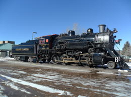 The engine sitting in the station yard -used on their special trips , Ruth P - February 2013