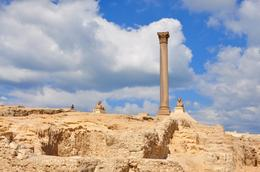 A view of Pompey's Pillar, Alexandria, Genesis A - May 2010