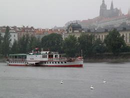 Vltava River boat trip, Prague - our boat is arriving to berth, Aleksandra B - July 2009