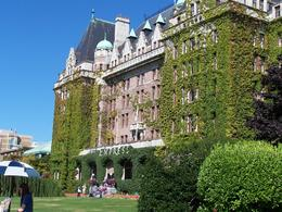 Empress Hotel in Victoria, Canada , Gerald and Mary - August 2012