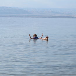 Photo of   A float in the Dead Sea