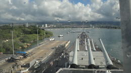 Photo of Oahu USS Missouri, Arizona Memorial, Pearl Harbor and Punchbowl Day Tour Arizona Memorial from bridge of USS Missouri
