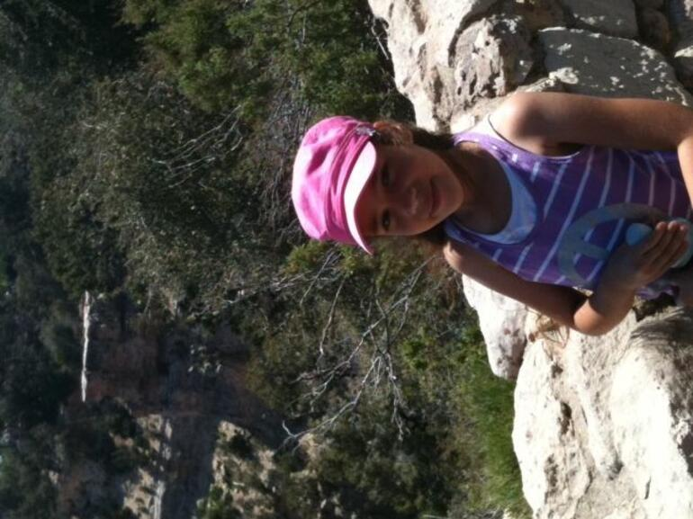 Bella at one of the lookout points - Las Vegas