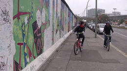 Biking along the Berlin Wall! - February 2012