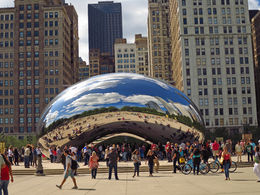 Cloud Gate sculpture , David V - September 2015