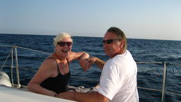 sailing on the Med What a great day , Gaye D - September 2012