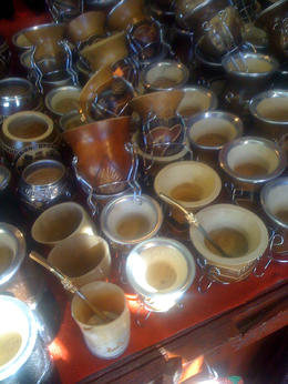 Mate cups for sale at the market., Bandit - June 2012