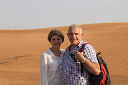 Steve and Leanne exploring the dunes , SAB - September 2013
