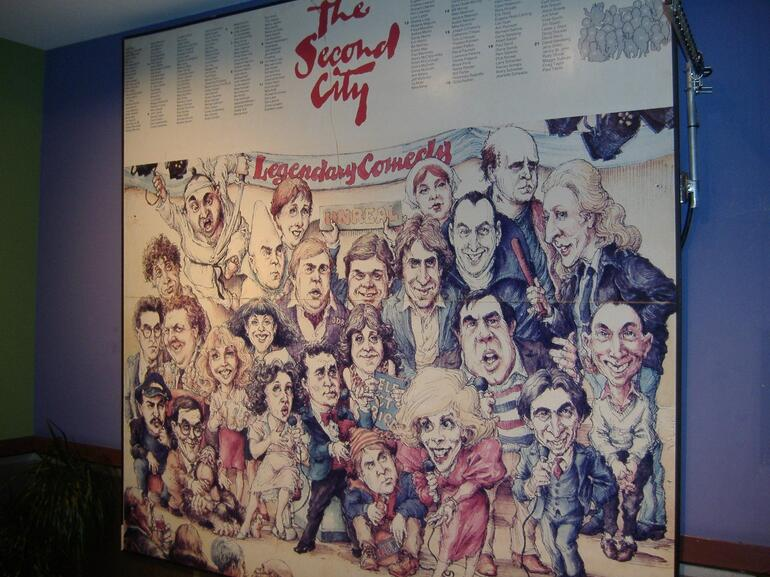 Second City mural - Chicago