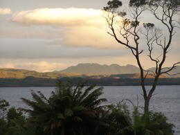 Photo of Tasmania Gordon River Cruise from Strahan Setting Sun
