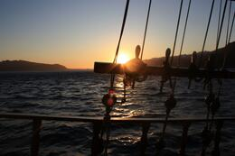 Photo of   Sunset from the boat