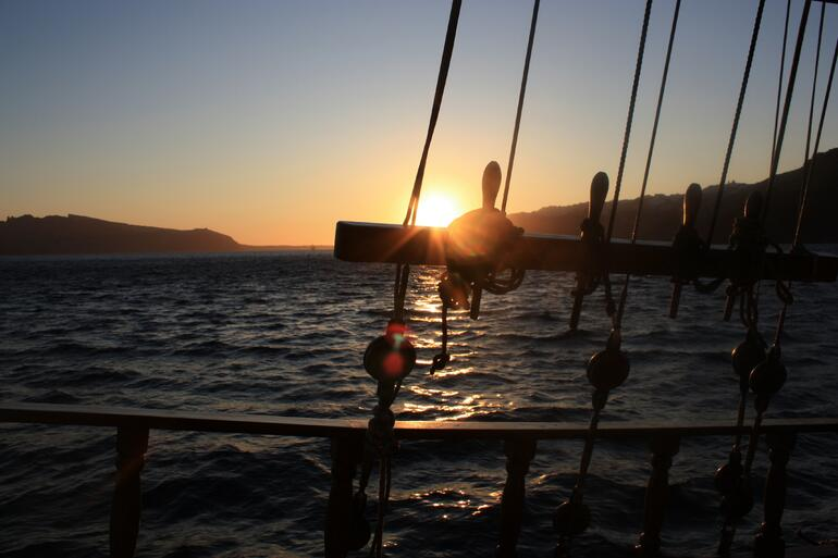 Sunset from the boat - Greece