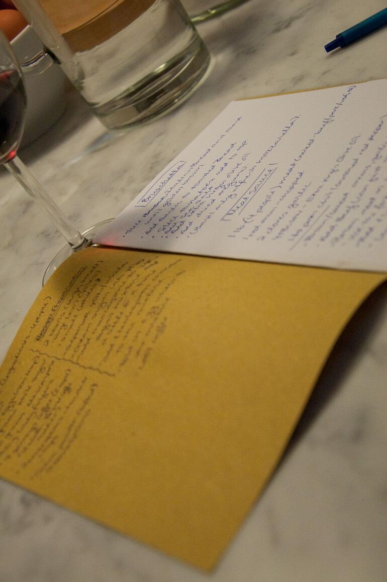Taking copious notes - Florence