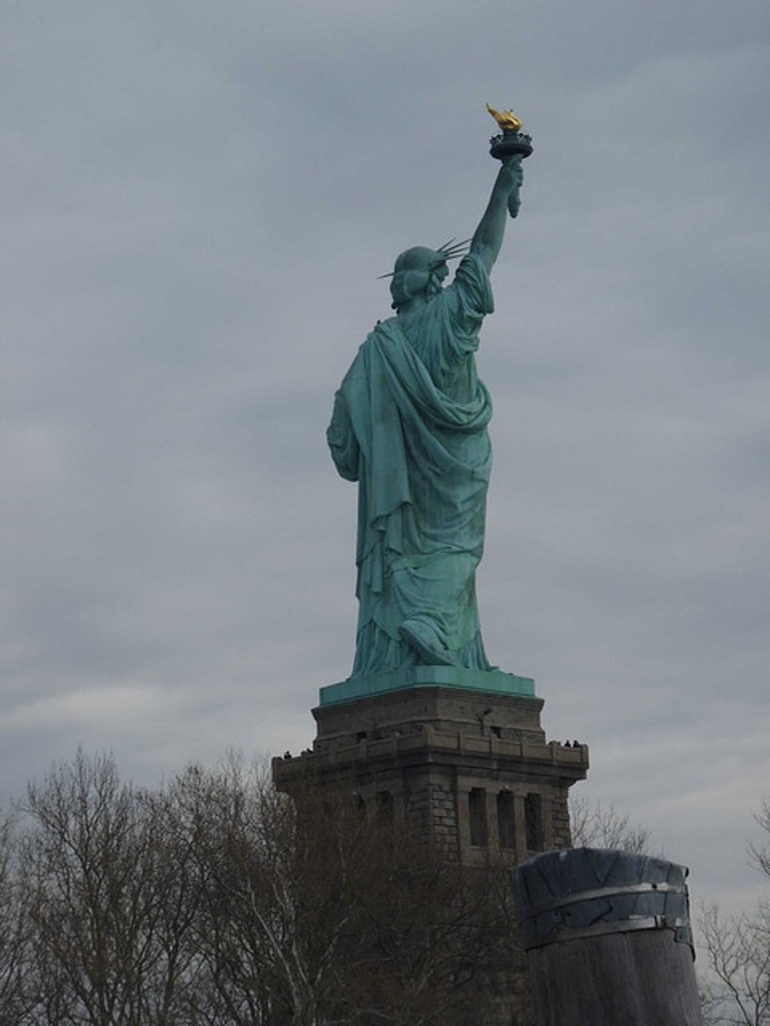 Back of the Statue of Liberty - New York City