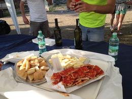 A well deserved stop for some cheese and wine on an old farm. What a highlight., Nick - May 2012