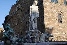 Outside the Uffizi in the square. Be sure not to touch the art, the Polizia do not like it. , NZM - May 2012