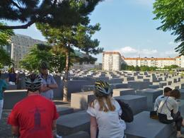 A quiet, reflective moment as we stopped at this beautiful memorial setting - a 4.7-acre site covered with 2,711 concrete slabs, set in a grid pattern, obviously reminiscent of a cemetery. , Ollie - August 2013