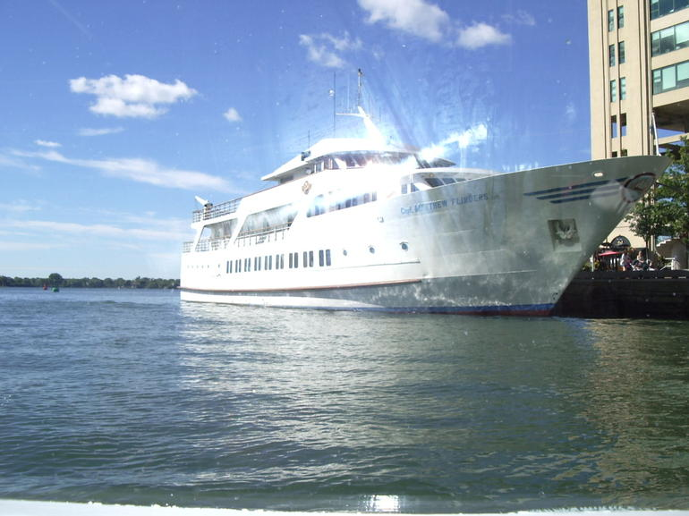 One of many Mariposa Vessels seen while leaving the harbour. - Toronto