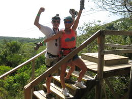 Lis and I having a great time on our first zipline adventure. , Robert E - October 2014