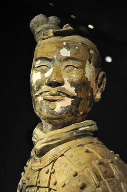Close up of a terracotta warrior. It was preserved so well! - May 2012