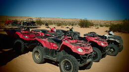Photo of Las Vegas ATV Off-Road Desert Adventure The ATVs lined up