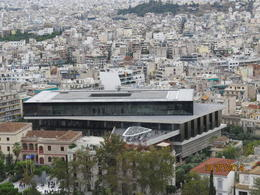 A view of the New Acropolis Museum taken from the Acropolis , Nancy G - December 2014