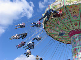 Photo of   The swinging chair ride is fun at Vienna Prater