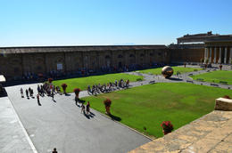 Vatican Museum grounds, Jeff - July 2013