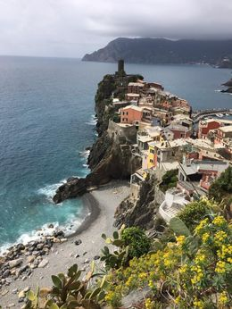 This is a photo of Vernazza taken on the hike from Corniglia , Jenna B - April 2016