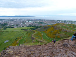 Looking out towards the sea from Arthur's Seat , Amy - August 2013