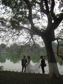Photo of Hanoi Private Tour: Hanoi City Full-Day Tour including Cyclo Ride A wedding by the lake