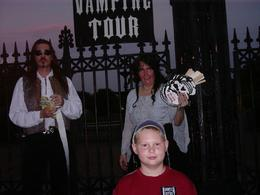 TJ and tour guide for New Orleans Vampire tour., Pete B - June 2008