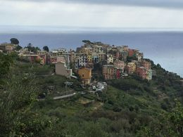 This is a shot of Corniglia taken from the town of Vernazza , Ken - October 2015