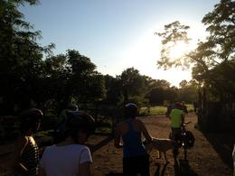 Photo of Rome Ancient Appian Way, Catacombs and Roman Countryside Bike Tour Cycling off into the sunset