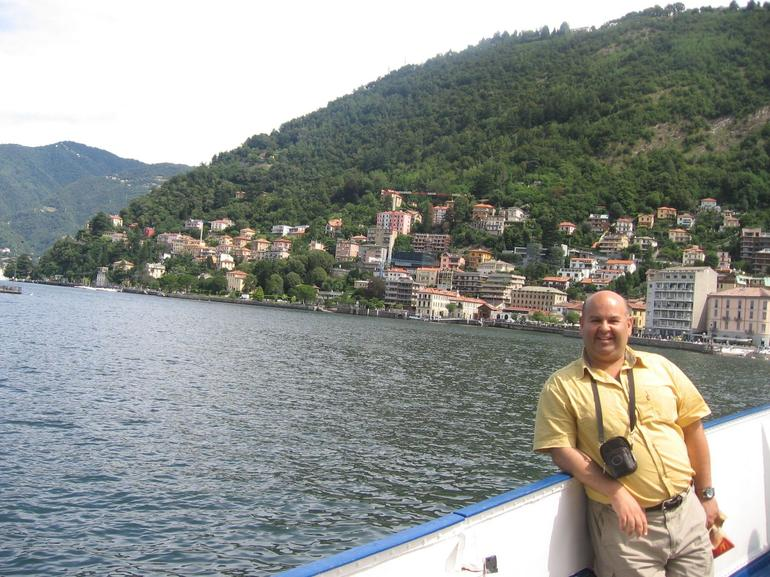 Embarking the ship to start navigation in the Lake Como - Milan
