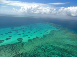 The helicopter ride out to the Great Barrier Reef had amazing views. , Kevin F - June 2014