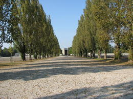 Photo of Munich Dachau Concentration Camp Memorial Small Group Tour from Munich Looking down the path....