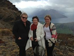 Tracey, Wendy and Jasmine standing on top of the mountain. , Tracey G - October 2013