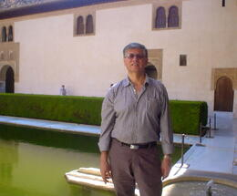 "I am in one of the external lakes of the ""Palacio de los Nazaries"" at ""La Alhambra"". , Eddy - July 2011"
