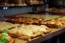 On one stop you try a selection of pizzas, sold by the KG. , DJ S - June 2016